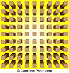 optical illusion - abstract design with geometric shapes ...