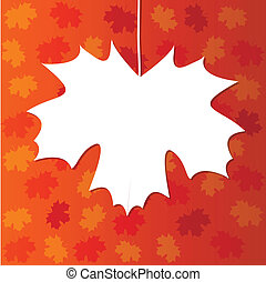 abstract design with maple leaf