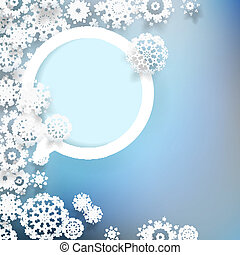 Abstract design with snowflakes. + EPS10