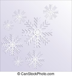 Abstract design with snowflakes, vector illustration