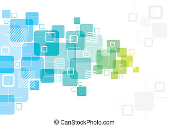 A colourful abstract background design with overlapping squares