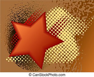 Abstract design with stars.