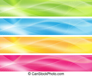 abstract designs - abstract backgrounds in 4 colors for...