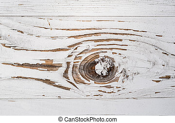 Abstract detail of a white painted wooden board