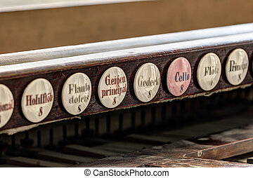 Abstract detail of the old pipe organ