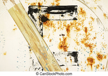 Abstract detail: Rusty Sign, White
