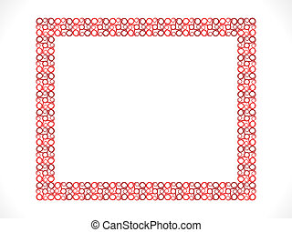 abstract detailed floral border