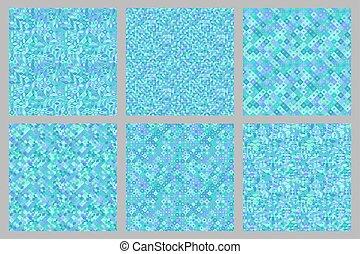 Abstract diagonal geometrical pattern background design set