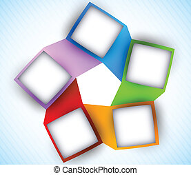 Abstract diagram with squares