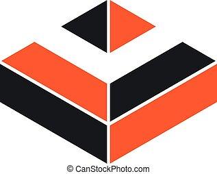 Abstract Diamond Brick Logo Template Illustration Design. Vector EPS 10.