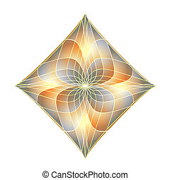 Abstract Diamond - Bright Fractals
