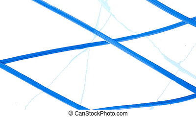 Abstract Digital Animation of Blue Whiteboard Markings...