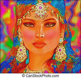 Abstract digital art of woman - Abstract digital art of...