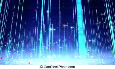 Abstract digital background loop