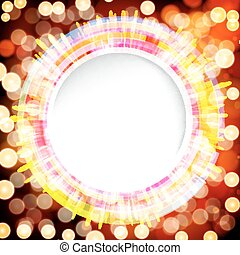 Abstract digital background with a round space for your text.