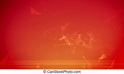 """Abstract digital background with cybernetic particles"""
