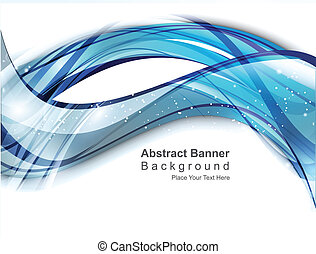 abstract digital  blue wave