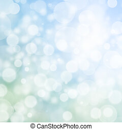 Abstract digital bokeh effect on blue background