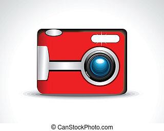 abstract digital camera icon