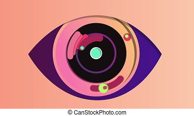 """""""Abstract digital eye in the pink backdrop"""""""