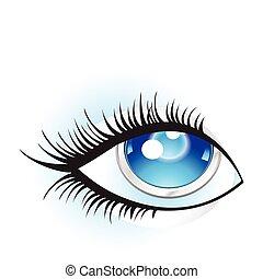 abstract digital eye
