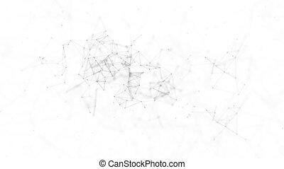 Abstract Digital Global Concept of Figures Polygon Plexus...