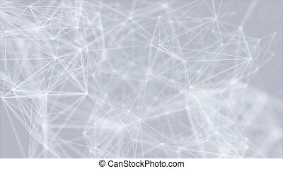 Abstract Digital Global Concept of Figures Polygon Plexus....