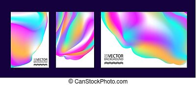 Abstract digital hologram style geometric trendy background. With place for your message. Business or tech presentation, cover template