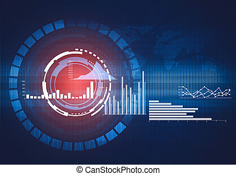 Abstract digital illustration of round technology interface