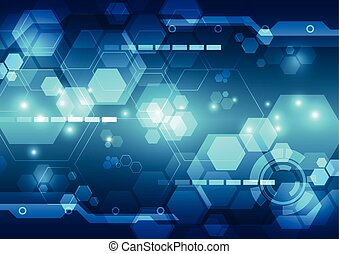 Abstract digital technology concept background, vector illustration