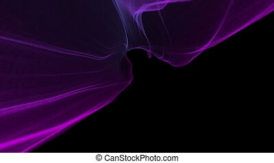Abstract Digital Wave And Smoke tunnel Flow Background