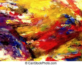abstract, digitale , schilderij