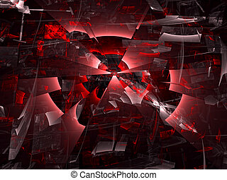 Abstract digitally generated image chaos background