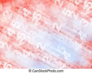 abstract digits background