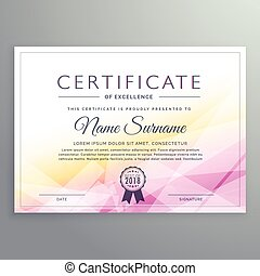 abstract diploma certificate design