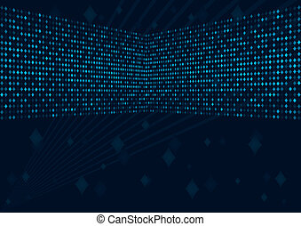 Abstract disco background. Blue set. Simply change. Vector ...
