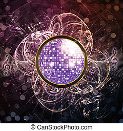 Abstract disco background - Illustration of abstract music...