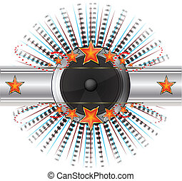 Abstract Disco background vector illustration