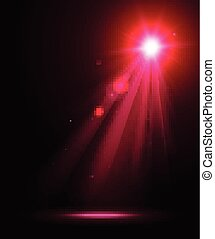 Abstract disco background with pink spot lights.