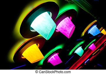 abstract disco club illumination