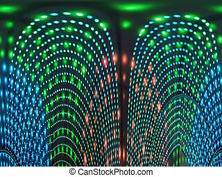abstract disco lamp heap, power diversity - abstract disco...