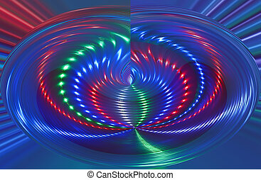 abstract disco light rotation, discotheque diversity