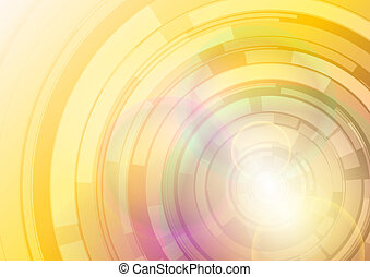 abstract discs - shiny abstract background - gold discs