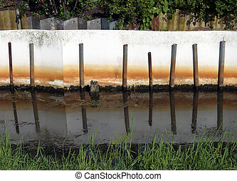Abstract ditch fence