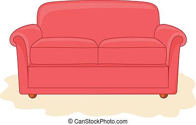Abstract divan.