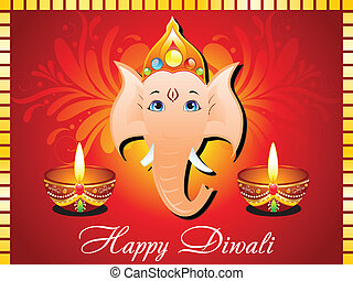 abstract diwali card vector