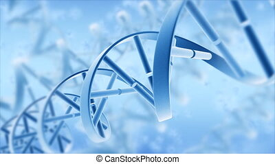 Abstract DNA. Motion background