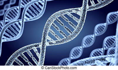 Abstract DNA spiral