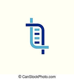 Abstract DNA symbol. Vector logo design