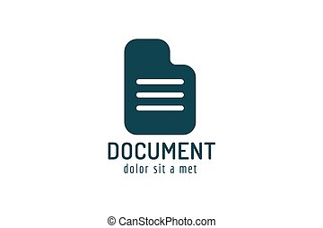 Abstract document paper sheet template logo icon